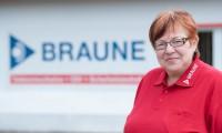 Das Bild zeigt unsere Mitarbeiterin Gabriele-Braune