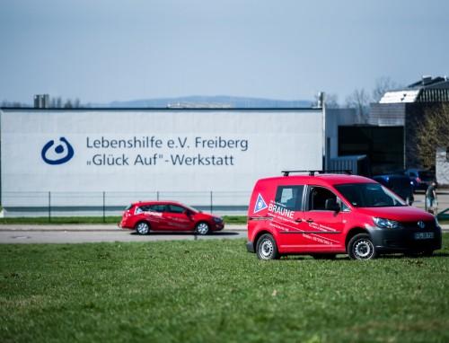 Firmengebäude der Lebenshilfe e.v. Freiberg - ein Referenzkunde der Firma Braune