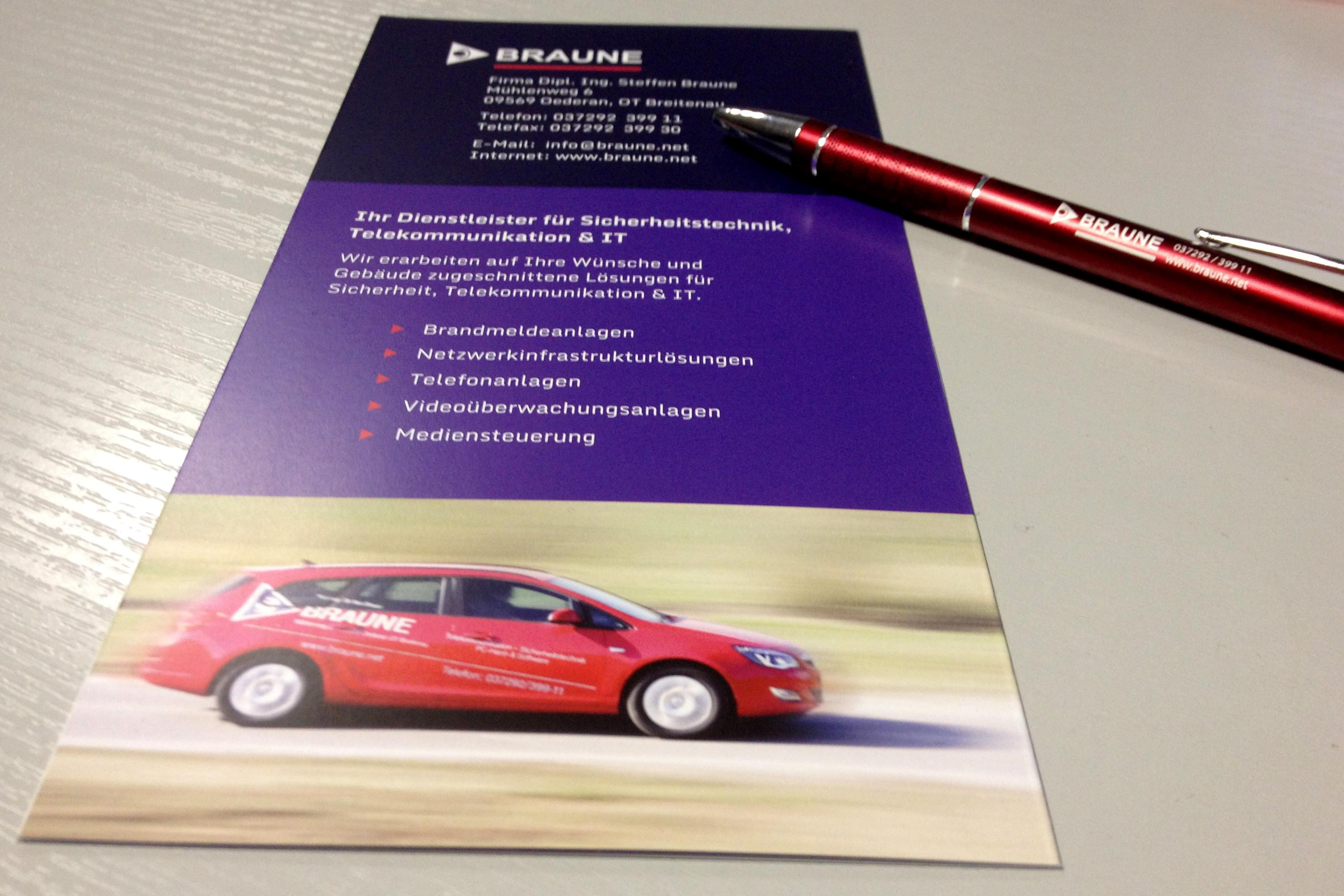 Flyer Firma BRAUNE Sicherheitstechnik & IT
