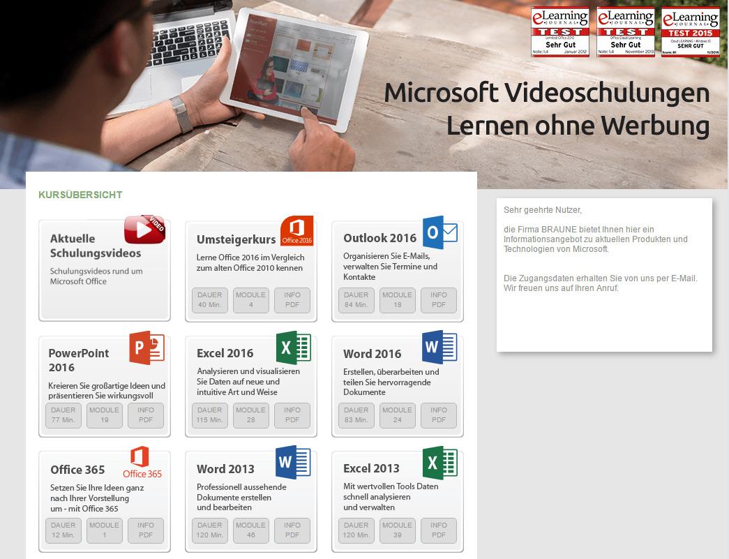 Microsoft Videoschulung